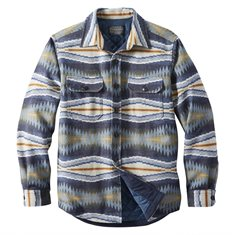 M's Jacquard Quilted Shirt Jacket - Crescent Bay